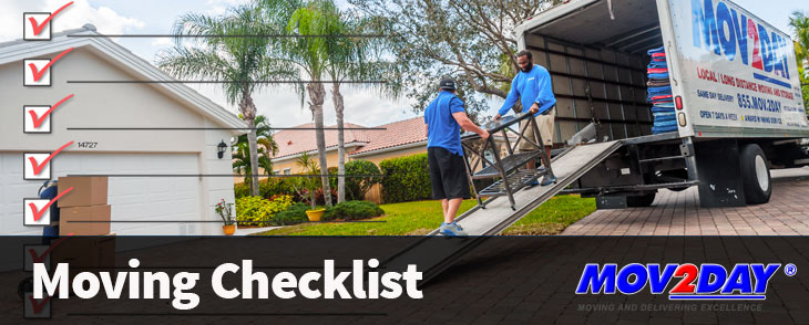 Naples Movers and Moving Truck | Moving Checklist Mov2Day South Florida Movers