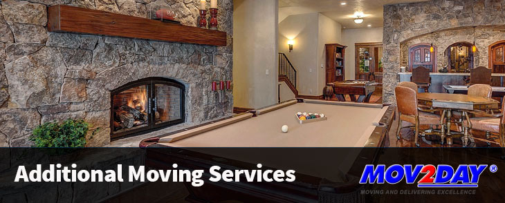 Pool table and other luxury items that can be moved by Mov2Day
