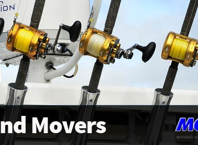 Fishing Poles on a boat - Enjoy your weekend and Mov2Day will be your weekend movers in Naples, FL